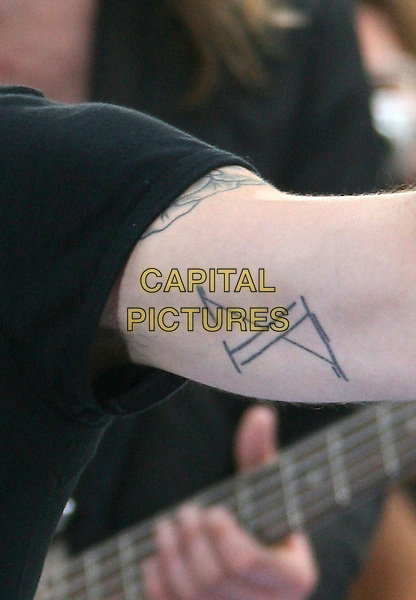 ADAM LEVINE OF MARRON 5.Today Show Summer Concert Series.at the NBC Plaza - Rockefeller Center..New York, NY, USA, August 17, 2007..detail tattoo.CAP/LNC/RIC.©LNC/Capital Pictures.