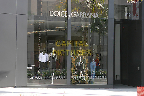 DOLCE & GABBANA SHOP.Famous Beverly Hills Landmarks. Beverly Hills, California..January 5th, 2005.Photo Credit: Jacqui Wong/Admedia.store, building, glass window.www.capitalpictures.com.sales@capitalpictures.com.© Capital Pictures.