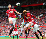 Zlatan Ibrahimovic of Manchester United heads the ball during the Premier League match at Old Trafford Stadium, Manchester. Picture date: September 10th, 2016. Pic Simon Bellis/Sportimage