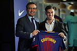 Presentation of Philippe Coutinho as New Player of the FC Barcelona.<br /> Josep M. Bartomeu &amp; Philippe Coutinho.