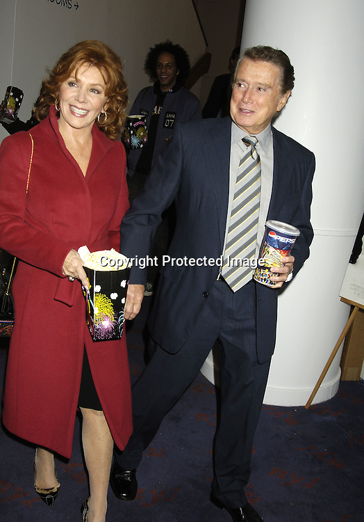 "Joy and Regis Philbin ..at a special  screening of ""Shopgirl"" on October 17, 2005 hosted by Tina Brown and Harry Evans at the New Beekman  Theatre. ..Photo by Robin Platzer, Twin Images"
