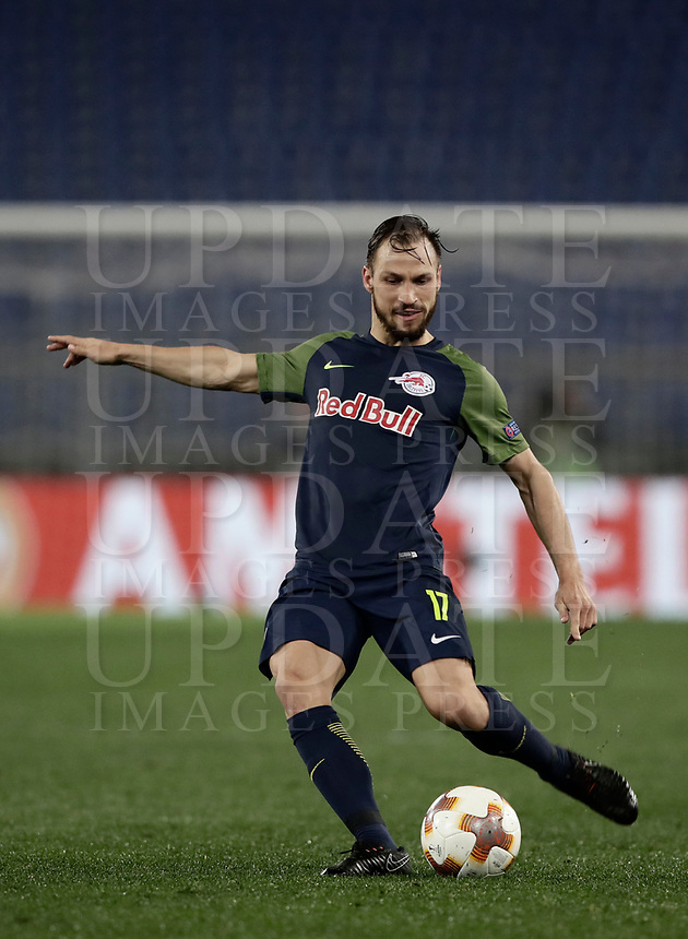 Europa League quarter-final 1st leg <br /> S.S. Lazio - FC Salzburg  Olympic Stadium Rome, April 5, 2018.<br /> Salzburg's Andreas Ulmer in action during the Europa League match between Lazio and Salzburg at Rome's Olympic stadium, April 5, 2018.<br /> UPDATE IMAGES PRESS/Isabella Bonotto