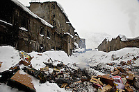 Rubbish strewn around the crumbling buildings of a former iron-processing plant in Kirovsk City. Since the collapse of the Soviet Union, many heavy industries in the Arctic have closed as it no longer makes economic and strategic sense to support these industrial communities in the extreme climate and isolation of Russia's far north. /Felix Features