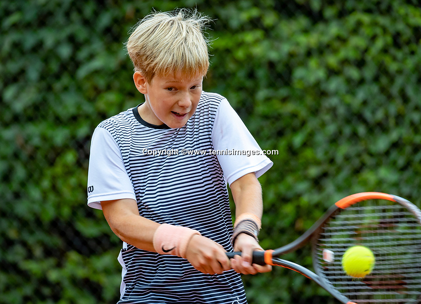 Hilversum, Netherlands, August 8, 2018, National Junior Championships, NJK, Pieter de Lange (NED)<br /> Photo: Tennisimages/Henk Koster