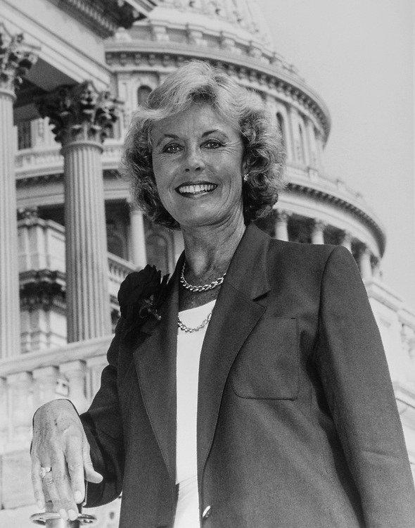Rep. Jennifer Dunn, R-Wash., on Capitol Hill in 1996. (Photo by CQ Roll Call via Getty Images)