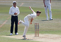 Marcus O'Riordan bowls for Kent during Kent CCC vs Sussex CCC, Bob Willis Trophy Cricket at The Spitfire Ground on 8th August 2020