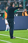 04.11.2018, Borussia Park , Moenchengladbach, GER, 1. FBL,  Borussia Moenchengladbach vs. Fortuna Duesseldorf,<br />  <br /> DFL regulations prohibit any use of photographs as image sequences and/or quasi-video<br /> <br /> im Bild / picture shows: <br /> Dieter Hecking Trainer/Headcoach (Gladbach), regt sich heftig auf, Gestik, Mimik,   <br /> <br /> Foto &copy; nordphoto / Meuter