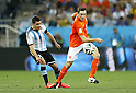 Enzo Perez (ARG), Stefan de Vrij (NED),<br /> JULY 9, 2014 - Football / Soccer :<br /> FIFA World Cup 2014 semi-final match between Netherlands 0(2-4)0 Argentina at Arena De Sao Paulo Stadium in Sao Paulo, Brazil. (Photo by AFLO) [3604]