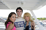 Kristen and Eddie Alderson pose with their mom Kathy as they donated their time at 15th Southwest Florida Soapfest 2014 Charity Weekend - at Cruisin' and Schmoozin' on May 25, 2104 aboard the Marco Island Princess (boat), Marco Island, Florida.  (Photo by Sue Coflin/Max Photos)