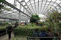 Tropical greenhouse at Hall Place in Bexley, Kent, UK