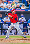 23 February 2013: Washington Nationals shortstop Ian Desmond in Spring Training action against the New York Mets at Tradition Field in Port St. Lucie, Florida. The Mets defeated the Nationals 5-3 in their Grapefruit League Opening Day game. Mandatory Credit: Ed Wolfstein Photo *** RAW (NEF) Image File Available ***