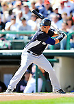 8 March 2011: New York Yankees' outfielder Nick Swisher in action during a Spring Training game against the Atlanta Braves at Champion Park in Orlando, Florida. The Yankees edged out the Braves 5-4 in Grapefruit League action. Mandatory Credit: Ed Wolfstein Photo