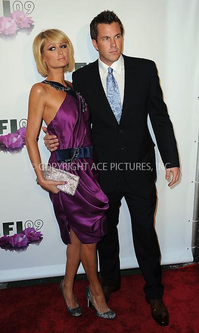 WWW.ACEPIXS.COM . . . . . ....May 27 2009, New York City....(L-R) Paris Hilton and Doug Reinhardt at the 37th Annual FiFi Awards at The Armory on May 27, 2009 in New York City.....Please byline: KRISTIN CALLAHAN - ACEPIXS.COM.. . . . . . ..Ace Pictures, Inc:  ..tel: (212) 243 8787 or (646) 769 0430..e-mail: info@acepixs.com..web: http://www.acepixs.com