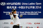 Bo Kyung Kim of Korea in action during the Hyundai China Ladies Open 2014 on December 12 2014, in Shenzhen, China. Photo by Li Man Yuen / Power Sport Images