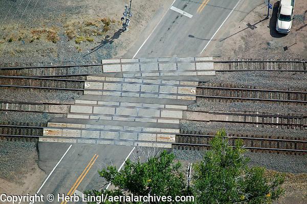 aerial photograph railroad crossing Nebraska