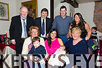 Baby Amy was Christened at St. Johns Church by Father Gerard Finucane  on Saturday with a celebration dinner at Cassidy's with family Pictured Anna Kennedy, Conor Kennedy, Caroline Kennedy (Mother), Baby Amy Kennedy, Mary McQuinn, Bill Kennedy, Pat Joe McQuinn, Liam Kennedy (Father), Mary McQuinn, . The family are originally from Lismore Tralee but now reside in Limerick