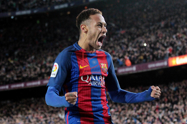 Copa del Rey 2016/2017 - 1/8 final vuelta.<br /> FC Barcelona vs Athletic Club: 3-1.<br /> Neymar Jr.