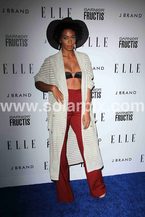 **ALL ROUND PICTURES FROM SOLARPIX.COM**                                             **SYNDICATION RIGHTS FOR UK, AUSTRALIA, DENMARK, PORTUGAL, S. AFRICA, SPAIN & DUBAI (U.A.E) & ASIA (EXCLUDING JAPAN) ONLY**                                                                                  Caption: Arrivals at the 2nd Annual ELLE Magazine - Women in Music - Event, held at the Music Box Theatre, Hollywood, CA, USA. 11 April 2011                                                                           This pic: Solange Knowles                                                                                             JOB REF: 13134 PHZ Evans      DATE: 11_04_2011                                                           **MUST CREDIT SOLARPIX.COM OR DOUBLE FEE WILL BE CHARGED**                                                                      **MUST AGREE FEE BEFORE ONLINE USAGE**                               **CALL US ON: +34 952 811 768 or LOW RATE FROM UK 0844 617 7637**