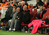 7th December 2017, Emirates Stadium, London, England; UEFA Europa League football, Arsenal versus BATE Borisov; Arsenal manager Arsene Wenger looks on from the bench