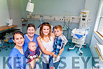 Midwives from University Hospital Kerry Joanne Malik and Siobhan McLoughlin who appeared on part one of RTE's Keeping Ireland Alive on MOnday night where they helped Killorglin woman Shauna Corcoran deliver baby Callum O'Connor. Also pictured is Shauna's two-year-old son Joshua O'Connor.