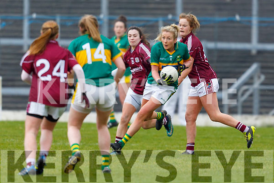 Action from the Kerry v Galway ladies game in the Lidl Ladies NFL game in Fitzgerald Stadium, Killarney on Sunday last.