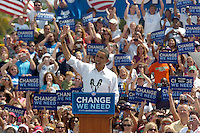 "Pinellas, Dunedin, Fl. 9/24/2008 --OBAMA --  Democratic presidential candidate Sen. Barack Obama, D-Ill. speaks during the ""Change We Need"" rally at Knology Park Wednesday, September 24, 2008 in Dunedin, Fl. PHOTOS 26 of  IMAGES STAFF MICHAEL SPOONEYBARGER ORG XMIT: T0809241533299937"