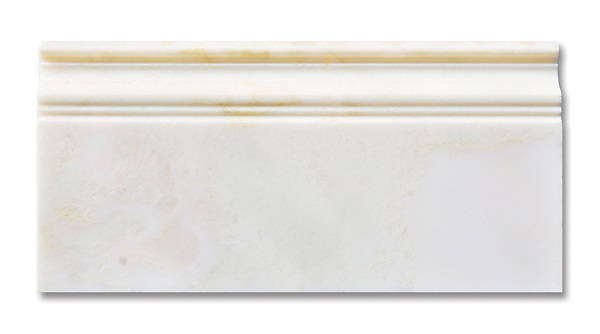 Cloud Nine Base Molding available in a polished finish is part of New Ravenna's Studio Line of ready to ship mosaics.