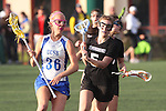 Santa Barbara, CA 02/18/12 - Alexandra Bowers (UCSB #36) and Elise Becker (Washington #5) in action during the UCSB-Washington matchup at the 2012 Santa Barbara Shootout.  UCSB defeated Washington