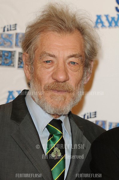 Sir Ian McKellan arriving for the South Bank Show Awards 2010, the last ever, at the Dorchester Hotel.  26/01/2010  Picture by: Steve Vas / Featureflash