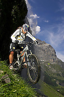 Hans Rey ..GT bicycles , Engelberg , Switzerland   June 2007..pic copyright Steve Behr / Stockfile