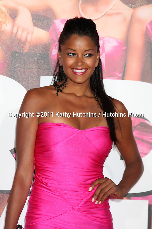 """LOS ANGELES - APR 27:  Claudia Jordan arriving at the """"Bridesmaids"""" Premiere at Village Theater on April 27, 2011 in Westwood, CA.."""