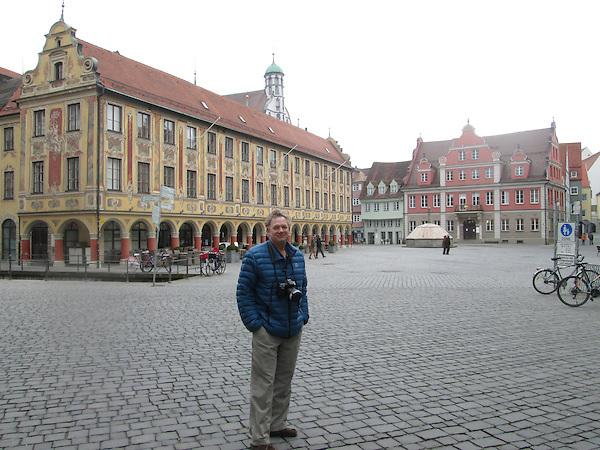 John in town square, Memmingen, Germany, Europe 2014