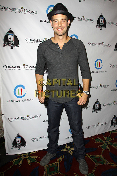 """JAY WILKISON.Children's Institute Hosts """"Poker For A Cause"""" Celebrity Poker Tournament held At Commerce Casino Hotel, City Of Commerce, California, USA..October 17th, 2009.full length grey gray top black hat jeans denim.CAP/ADM/KB.©Kevan Brooks/AdMedia/Capital Pictures."""