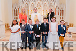Ballybunion & Kilconly 1st Communion: Pupils from Ballybunion Ns & Kilconly NS who received 1st Communion at St. John's Church, Ballybunion on Saturday last . Front : Saoirse Mulvihill, Stephen Meaney, John O'Donovan, FionanMaloney, Kilconly, Michael Herlihy, Abbey Buckley & Avan McSweeney. Bacl: M/s Aofe Walsh, Fr. Piotr Delimat & m/s Fiona Mulcare.