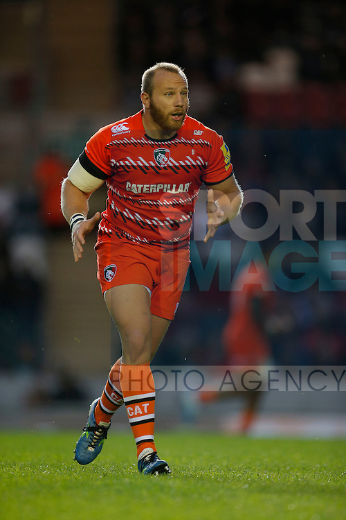 Leonardo Ghiraldini in action for Leicester Tigers - Rugby Union - Leicester Tigers vs Cardiff Blues - pre-season friendly - Welford Road Leicester - 29th August 2014 - Picture - Malcolm Couzens/Sportimage