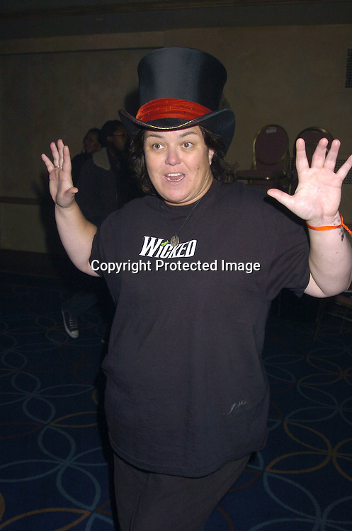 "Rosie O' Donnell..at a performance of ""Pippin"" A Concert to Benefit The National Aids Fund and The Storm Theatre on November 29, 2004 at The Manhattan Center's Grand Ballroom...PHoto by Robin Platzer, Twin Images"