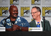 SAN DIEGO COMIC-CON© 2019:  L-R: 20th Century Fox Television's AMERICAN DAD Cast Members Kevin Michael Richardson and Dee Bradley Baker during the AMERICAN DAD panel on Saturday, July 20 at the SAN DIEGO COMIC-CON© 2019. CR: Frank Micelotta/20th Century Fox Television