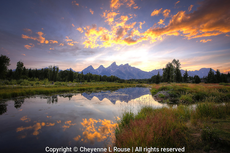 Teton Summer Sunset - Wyoming