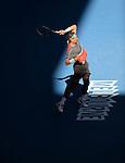 Rafael Nadal (ESP) defeats Grigor Dimitrov (BUL) 3-6, 7-6, 7-6, 6-2 at the Australian Open in Melbourne, Australia on January 22, 2014