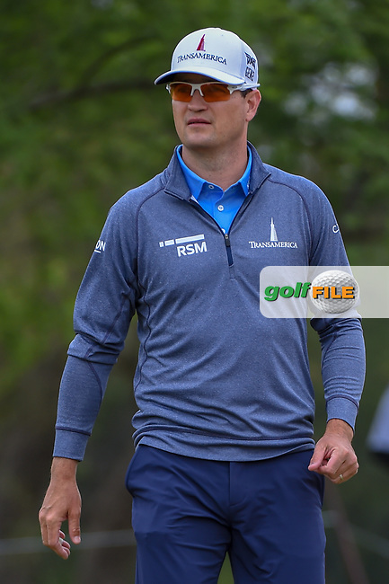 Zach Johnson (USA) makes his way down 2 during Round 3 of the Valero Texas Open, AT&T Oaks Course, TPC San Antonio, San Antonio, Texas, USA. 4/21/2018.<br /> Picture: Golffile   Ken Murray<br /> <br /> <br /> All photo usage must carry mandatory copyright credit (© Golffile   Ken Murray)
