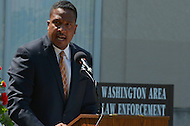 May 10, 2013  (Washington, DC)  Ronald C. Machen, U.S. Attorney for the District of Columbia, speaks during a ceremony at the Washington Area Law Enforcement Memorial.  (Photo by Don Baxter/Media Images International)