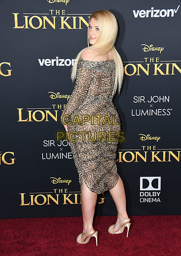 "09 July 2019 - Hollywood, California - Meghan Trainor. Disney's ""The Lion King"" Los Angeles Premiere held at Dolby Theatre. <br /> CAP/ADM/BT<br /> ©BT/ADM/Capital Pictures"