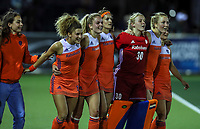 Netherlands celebrate during the World Hockey League final between the Netherlands and New Zealand. North Harbour Hockey Stadium, Auckland, New Zealand. Sunday 26 November 2017. Photo:Simon Watts / www.bwmedia.co.nz