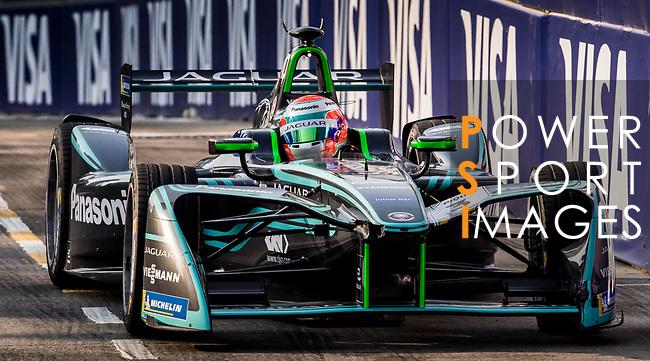 Nelson Piquet Jr of Brazil from Panasonic Jaguar Racing competes during the FIA Formula E Hong Kong E-Prix Round 2 at the Central Harbourfront Circuit on 03 December 2017 in Hong Kong, Hong Kong. Photo by Victor Fraile / Power Sport Images