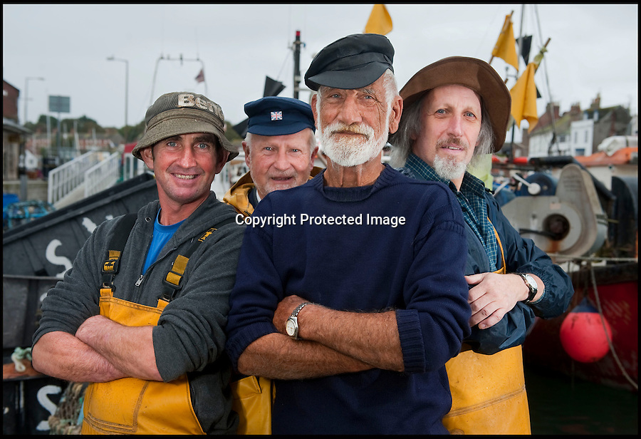 BNPS.co.uk (01202 558833)<br /> Pic: PhilYeomans/BNPS<br /> <br /> l-r Kelvin Moore, David Parrott, Ivor Charles, Kevin Hart<br /> <br /> Lights, camera, plankton!<br /> <br /> A crew of fishermen are enjoying unlikely sideline careers as actors in blockbuster films - thanks to their salty sea dog looks.<br /> <br /> The gang's craggy features, big beards and wild hair have helped them bag roles alongside Hollywood A-listers such as Johnny Depp and Charlize Theron.<br /> <br /> As many as 12 weather-beaten fishermen from Weymouth, Dorset, have found success on the big screen since signing up with a casting agency.<br /> <br /> And thanks to their authentic appearances they are regularly snapped by film producers wanting to make nautical scenes more realistic.