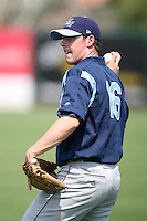 April 12, 2009:  Pitcher Kevin Boggan of the Charlotte Stone Crabs, Florida State League Class-A affiliate of the Tampa Bay Rays, during a game at Hammond Stadium in Fort Myers, FL.  Photo by:  Mike Janes/Four Seam Images