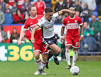 Middlesbrough's Grant Leadbitter tackles Bolton Wanderers' Antonee Robinson <br /> <br /> Photographer Rachel Holborn/CameraSport<br /> <br /> The EFL Sky Bet Championship - Bolton Wanderers v Middlesbrough - Saturday 9th September 2017 - Macron Stadium - Bolton<br /> <br /> World Copyright &copy; 2017 CameraSport. All rights reserved. 43 Linden Ave. Countesthorpe. Leicester. England. LE8 5PG - Tel: +44 (0) 116 277 4147 - admin@camerasport.com - www.camerasport.com