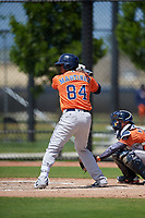Houston Astros Hector Martinez (84) bats during a Minor League Spring Training Intrasquad game on March 28, 2019 at the FITTEAM Ballpark of the Palm Beaches in West Palm Beach, Florida.  (Mike Janes/Four Seam Images)