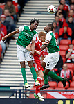 Efe Ambrose and Marvin Bartley with Adam Rooney