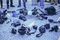 Rio de Janeiro - RJ 10/02/14 - Homenagem ao cinegrafista da Band Santiago Andrade central do Brasil centro do RJ. Foto: Nicson Olivier/Brazil Photo Press